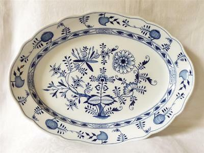 VERY LARGE ANTIQUE 19TH CENTURY MEISSEN MEAT PLATE 52cms