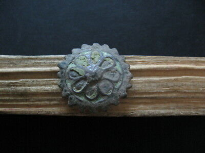 Multicoloured Enameled Sun Talisman Ancient Celtic Bronze Amulet 300-100 B.c.
