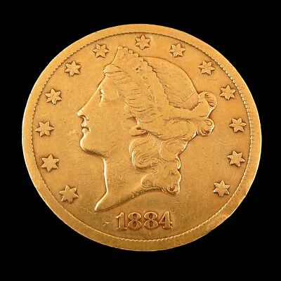 1884 CC $20 Liberty Gold Double Eagle Coin