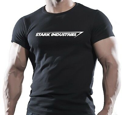 New - Stark Industries Black T-Shirt