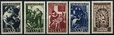 Saar 1949 SG#281-285 National Relief Fund Paintings MH Set Cat £120 #D74335