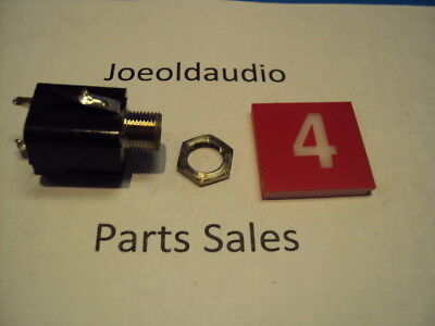 Sansui 5000X Headphone Jack w/ Mounting Nut. Tested Parting Out 5000X Receiver