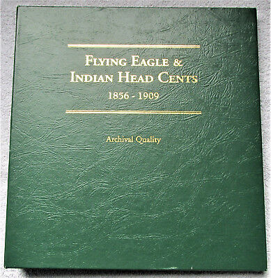 1959-1909 Indian Head Cents,Circulated,w/Collectors Book,52 Coins,Flying Eagles