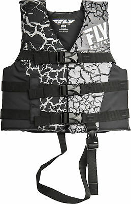 Fly Racing Child Life Vest Black/Grey 30-50 lbs