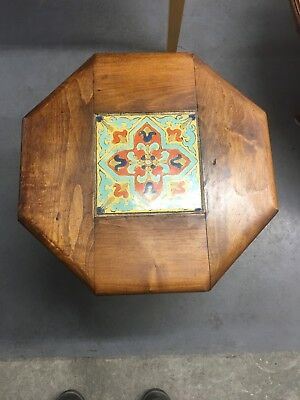 Vintage California Pottery Tile Octagonal Table