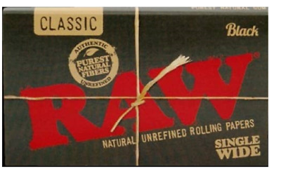 RAW Classic Black Single Wide - 3 PACKS - Rolling Papers Double Press Ultra Thin