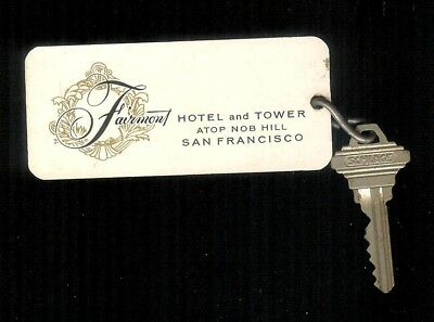 Vintage Room Key & Fob, Fairmont Hotel & Tower Nob Hill San Francisco California