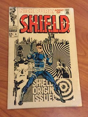 Nick Fury agent of SHIELD #4 Steranko cover VG- Marvel Comics 1960's