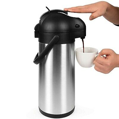101 Oz (3L) Airpot Thermal Carafe, Lever Action, Stainless Steel Thermos