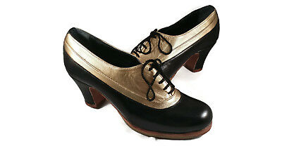 Flamenco Shoes Professionals brand new black and gold leather size 38