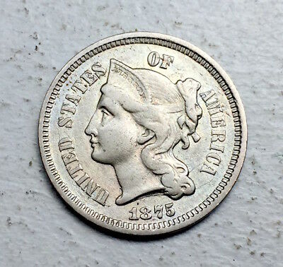 Usa Nickel 3 Cents 1875