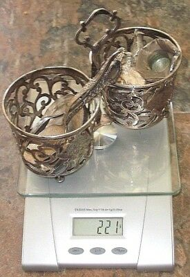 Sterling Silver Condiment Holder Spoons 221 Grams Scrap