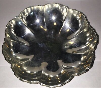 Vintage Mexican Sterling Silver Bowl Caral Mexico City Mid Century 342 Grams