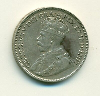 Canada 25 cents 1918 VF+
