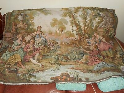 Antique style large wall tapestry
