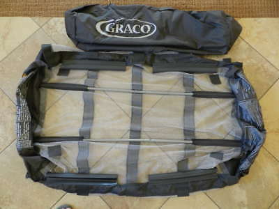 Replacement Graco Pack n Play Bassinet Mesh Insert w/ Poles - Excellent