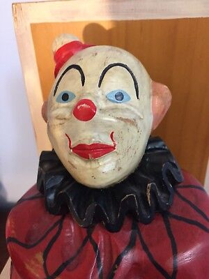Guild Master Wooden Carved Clown Jack in the Box Spain