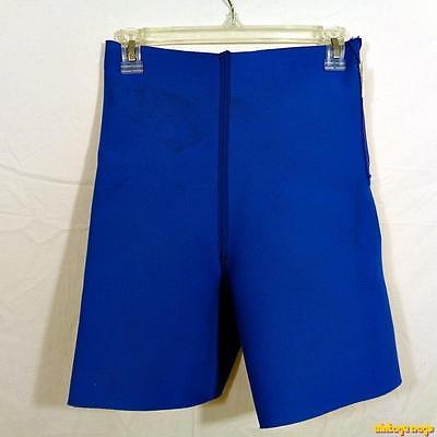 SOLAR Bollinger Neoprene Compression Trimming Shorts Womens Size L Blue