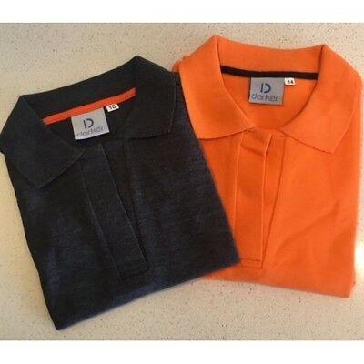 POLO TOP. Charcoal in colour. Size 16. 100% Cotton. NEW. RRP $39.95