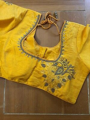 Yellow Blouse Only Stitched- Size 36-40 Ready To Wear