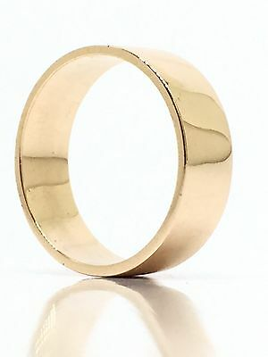 BEAUTIFUL Solid 9K 375 Rose Gold Wide Thick Wedding Band Ring 3.88g Size 7