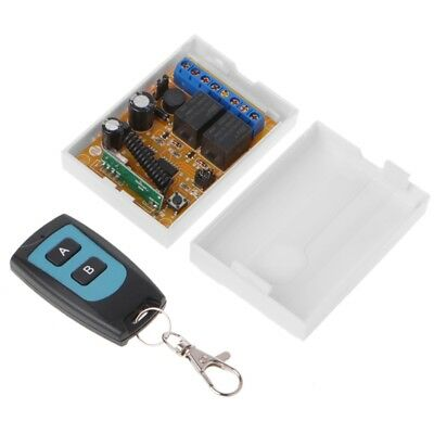 DC 12/24V 2CH Relay RF Wireless Remote Control Switch 1 Receiver + 1 Transmitter
