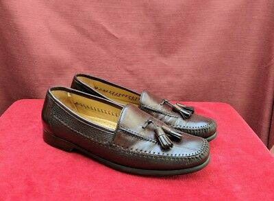 Mezlan Teano Brown Leather w/Tassel Loafers Size 9. 5 M