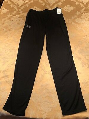 Youth Boys Large Under Armour Loose black Sweat Pants NEW NWT