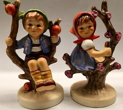 Hummel Figurines apple tree boy and girl set. #742 3/0 and #141 3/0. No reserve!