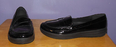 d1d1d26edcb Gorgeous FitFlop F-Sporty Black Patent Leather Penny Loafers Anatomicush  8.5 M