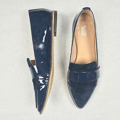 351a1f9f327 DR. SCHOLLS ORIGINAL Collection Womens Ashah Loafers Sz 9 M Patent Leather  Suede -  17.99