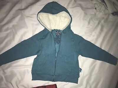 8e1e8484b KICKEE PANTS ZIP Front Hoodie Jacket Bay (teal) Fuzzy 12-18 months ...