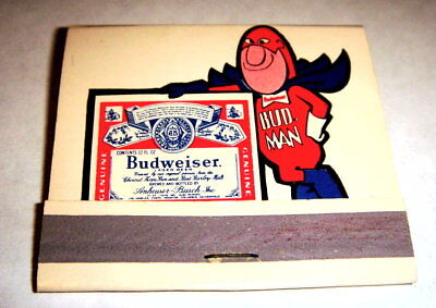 Bud Man Book of Matches Rare item from the 70's
