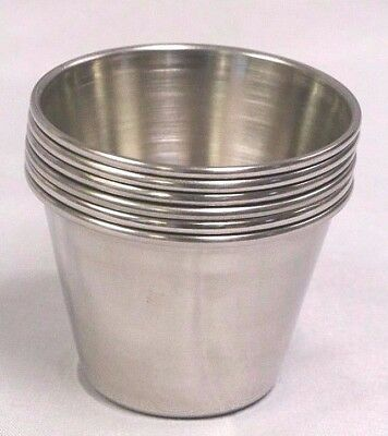 (12 DZ - 144 ea) 2.5 OZ Stainless Steel Sauce Cup Ramekin Souffle Side Dressing