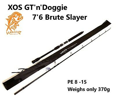 HAMACHI 7'6 XOS GT'n'Doggie Brute Slayer PE8-15 Japanese spin popper fishing rod