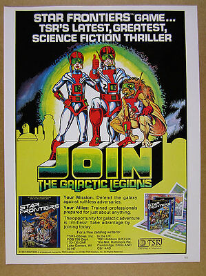 1982 TSR Star Frontiers role-playing game promo vintage print Ad