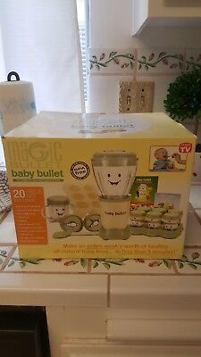 Magic Bullet Baby Bullet Baby Care System 20 Piece **New**