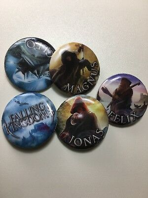 Falling Kingdoms 5 Promo Buttons For Book Series SDCC