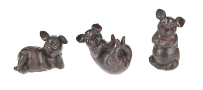Country Style Pig Figurine Set of 3