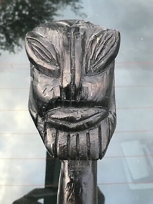 Polynesia Oceanic War Club - Ancient Aliens Influence ? Head hunter Weapon ?