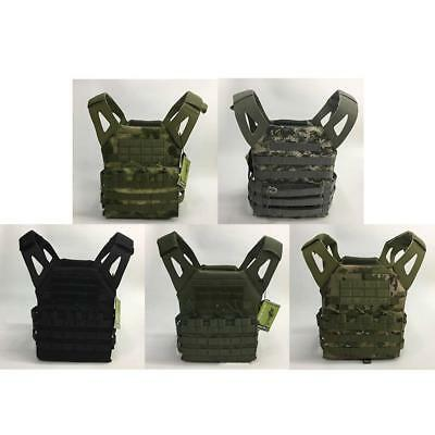 Brown Nylon MOLLE Tactical Military Army Combat Paintball Vest A4K7 BN