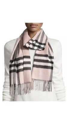 ace8df71ebf BURBERRY PINK MEGA Check Cashmere Scarf Rt.  435!!