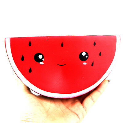 Watermelon Smiley Face Squishie Jumbo Slow Rising Scented Squishy Gift 16CM
