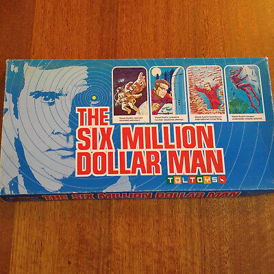 The Six Million Dollar Man Board Game 1975 Complete