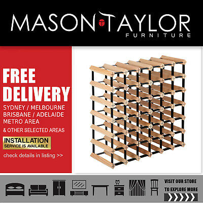 Mason Taylor Artiss 42 Bottle Timber Wine Rack  AU