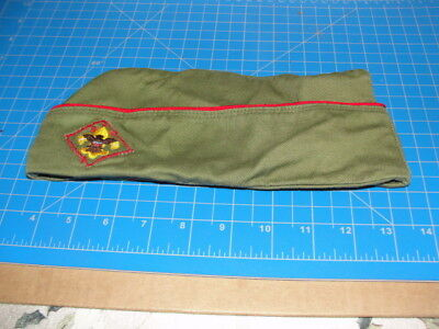 ORIGINAL BOY SCOUT HAT 1950's GREEN  Size Medium 6 3/4-6 7/8 NO WRITING