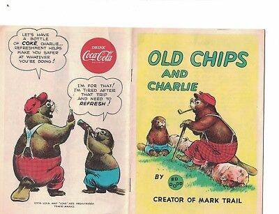 Old Chips & Charlie by Ed Dodd 1954 Coca Cola Comic Book
