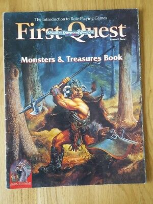 AD&D 2nd Edition First Quest Audio CD Game: Monsters & Treasure Book