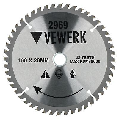 160mm x 20/16mm 48T TCT Circular Saw Blade Tungsten Carbide Tipped Cutting