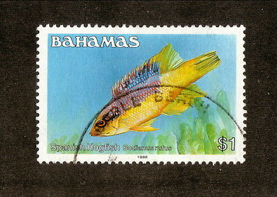 Bahamas--#615a Used--1988 Spanish Hogfish